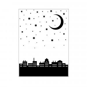 Darice Hintergrund-Prägeschablone - City Moon