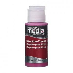 DecoArt Media Fluid Acrylics Paint Flüssige Acrylfarbe 1oz - Quinacridone Magenta