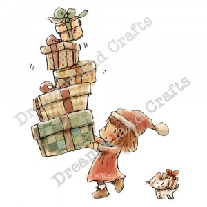 Dreamerland Crafts Cling Stamps - Stack The Presents