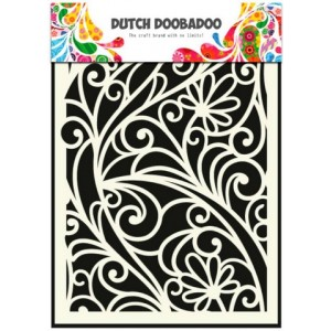 Dutch Doobadoo Mask Art Stencil A5 - Blumen-Fenster