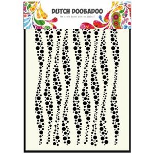 Dutch Doobadoo Mask Art Stencil A5 - Wellen-Streifen