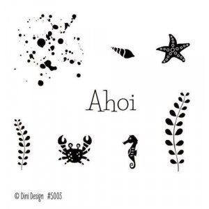 Dini Designs Mini Clear Stamps - Ahoi 1