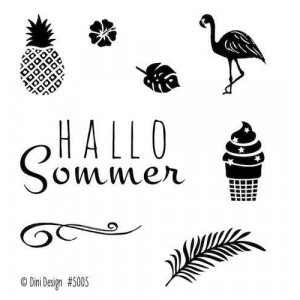 Dini Design Mini Clear Stamps - Sommer