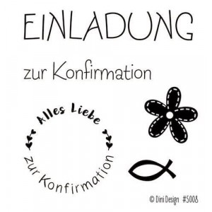 Dini Design Mini Clear Stamps - Konfirmation