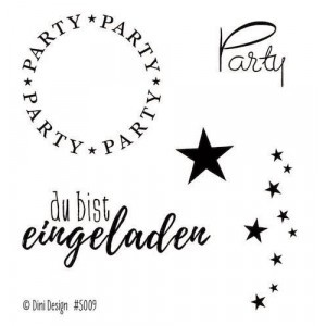 Dini Design Mini Clear Stamps - Party