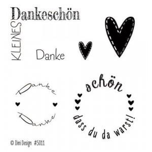 Dini Design Mini Clear Stamps - Danke