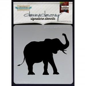 Donna Downey Stencil - Good Luck Elephant