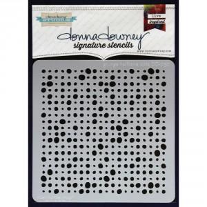 Donna Downey Stencil - Grunge Halftone Dots