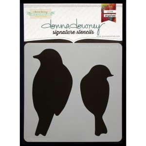 Donna Downey Stencil - Birds Silhouette