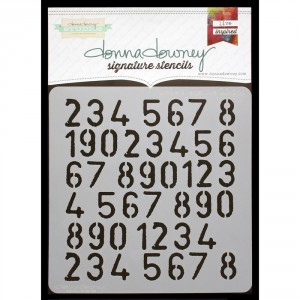Donna Downey Stencil - Numbers Repeat