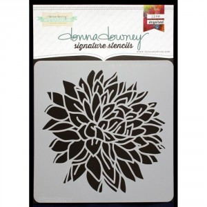 Donna Downey Stencil - Big Peony Blossom