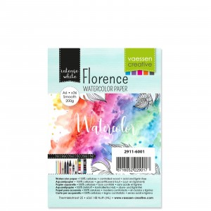 Florence Aquarellpapier Smooth White A6 36 Blatt 200g/m²