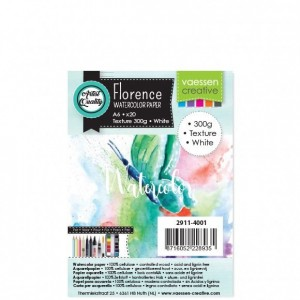 Florence Aquarellpapier Textur White A6 20 Blatt 300g/m²