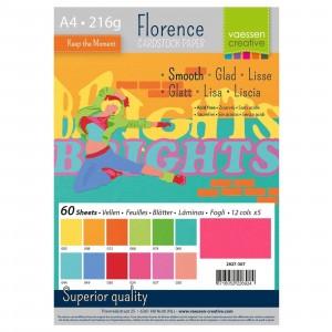 Florence Cardstock A4 60 Blatt - Bunt