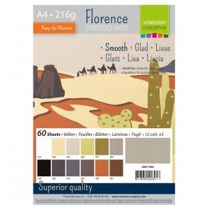 Florence Cardstock A4 60 Blatt - Erdtöne