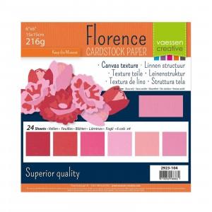 Florence Leinenkarton Multipack 15 x 15 cm 60 Blatt - Rosa