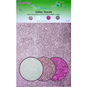 Glitter Cardstock 14 x 22 cm  - Pinktöne