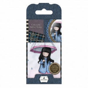 Gorjuss Collectable Rubber Stamp - Santoro - No. 16 Puddles of Love