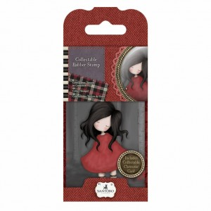 Gorjuss Collectable Rubber Stamp - Santoro - No. 18 Poppy Wood