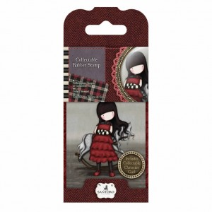 Gorjuss Collectable Rubber Stamp - Santoro - No. 20 The Getaway