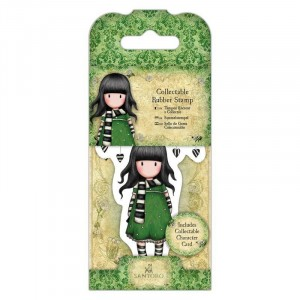 Gorjuss Collectable Rubber Stamp - Santoro - No. 26 The Scarf