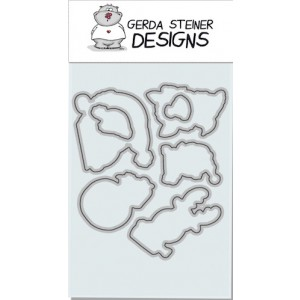 Gerda Steiner Designs - Peeking Friends Stanzschablonen-Set