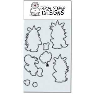 Gerda Steiner Designs - Moody Unicorns Stanzschablonen-Set