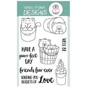 Gerda Steiner Design Clear Stamps - Buckets of Love