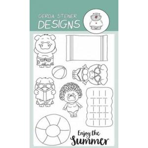 Gerda Steiner Designs Clear Stamps - Pool Piggies