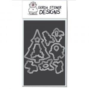 Gerda Steiner Designs - Reindeer and a Tree Stanzschablonen-Set