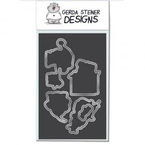 Gerda Steiner Designs - Christmas Puppies Stanzschablonen-Set