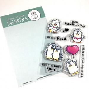 Gerda Steiner Designs Clear Stamps - Valentine Penguins