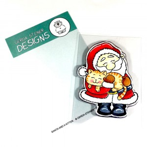 Gerda Steiner Design Clear Stamps - Santa And A Kitten 3x4