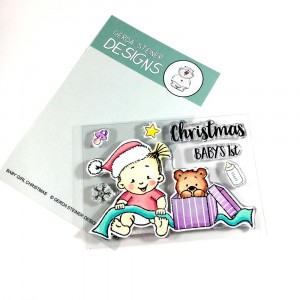 Gerda Steiner Designs Clear Stamps - Baby Girl Christmas 3x4