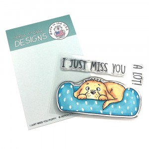 Gerda Steiner Designs Clear Stamps - I Just Miss You Puppy 3x4