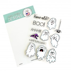 Gerda Steiner Design Clear Stamps - Ghosts 4x6