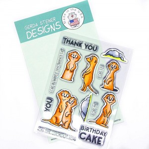 Gerda Steiner Design Clear Stamps - Meerkats on the Lookout! 4x6