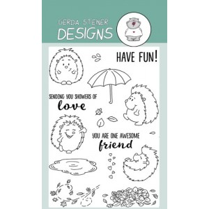 Gerda Steiner Designs Clear Stamps - Cheerful Hedgehogs