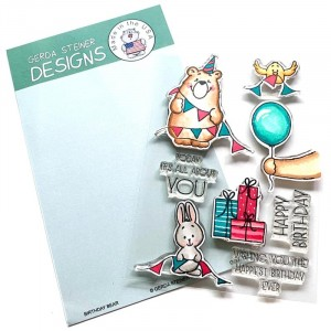 Gerda Steiner Design Clear Stamps - Birthday Bear 4x6