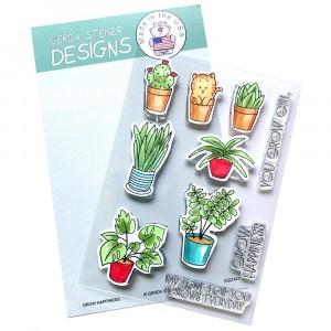 Gerda Steiner Designs Clear Stamps - Grow Happiness 4x6
