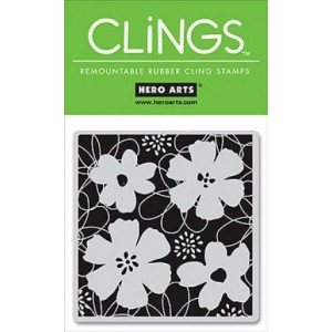 Hero Arts Cling Stamps - Floral Garden