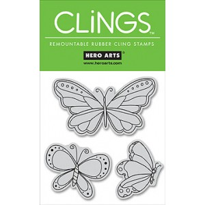 Hero Arts Cling Stamps - Butterflies