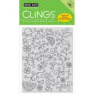 Hero Arts Cling Stamps - Heart Flourishes