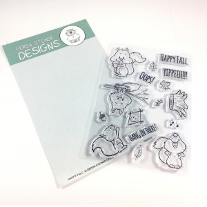 Gerda Steiner Designs Clear Stamps - Happy Fall Squirrel