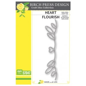 Birch Press Stanzschablone - Heart Flourish - 25% RABATT