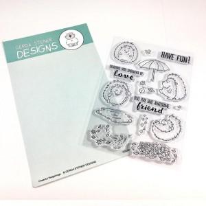 Gerda Steiner Designs Clear Stamps - Cheerful Hedgehogs