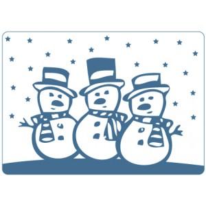 Crafts Too Hintergrund-Prägeschablone - Snowmen