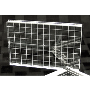 Acrylblock - 10 cm x14 cm mit Griffmulde und Raster