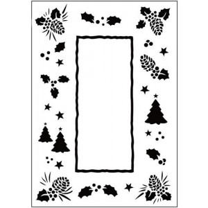 Crafts Too Hintergrund-Prägeschablone - Christmas Trees Frame