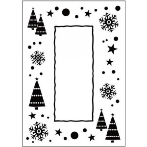 Crafts Too Hintergrund-Prägeschablone - Let It Snow Frame - 50% RABATT